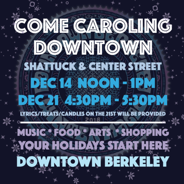 Holiday Caroling in Downtown Berkeley