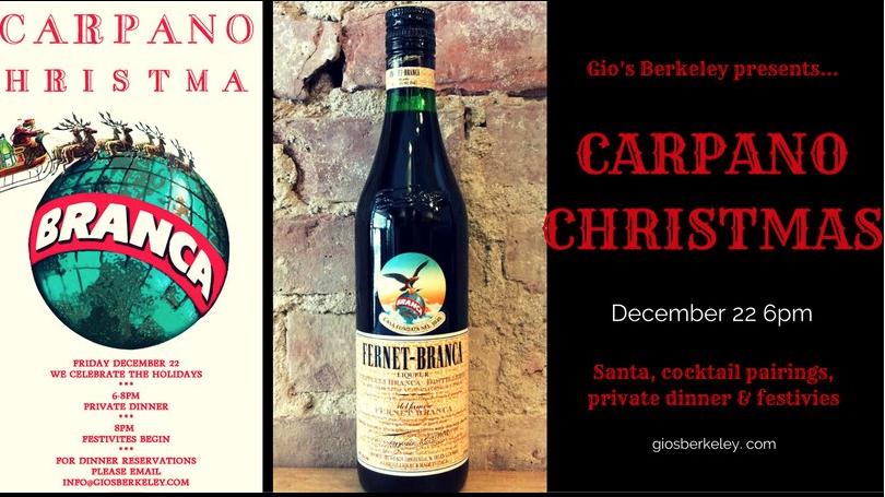 Carpano Christmas with Gio's Berkeley