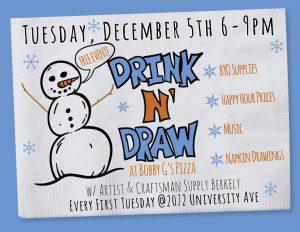 Drink N Draw At Bobbi G S W Artist Craftman Supply Berkeley