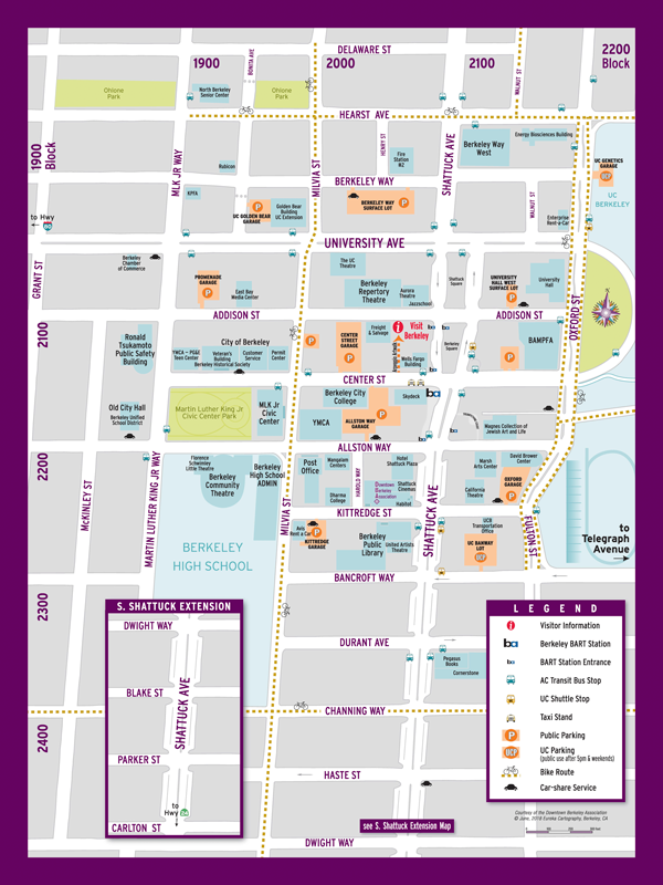 Downtown Berkeley Map